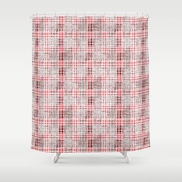 Classical red-gray cell. Shower Curtain