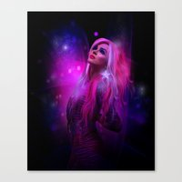 hologram Canvas Prints featuring Jem and the Hologram by Claudia Digital Graphics
