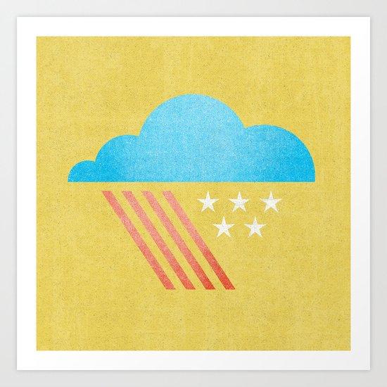 Patriotic Weather. Art Print