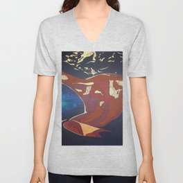 Backview of A Young Woman Dancing In A Night Club Unisex V-Neck