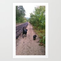 where the tracks lead Art Print