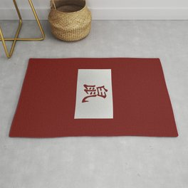 Chinese zodiac sign Rat red Rug