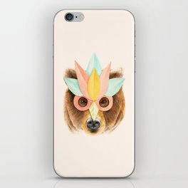 The Bear with the Paper Mask iPhone Skin