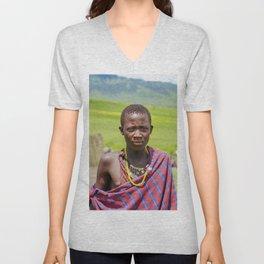 Portrait 4300 Young Maasai Unisex V-Neck
