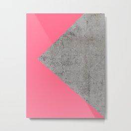 Fashion Pink on Concrete Metal Print