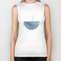 moon Biker Tanks featuring Mown by Enkel Dika