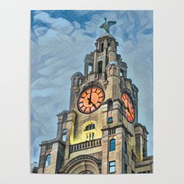It's 5 o clock somewhere - Liverpool Poster