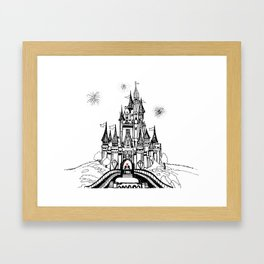 Mouse in Love Framed Art Print