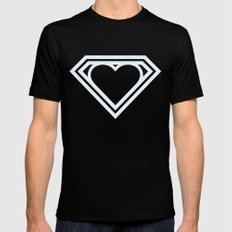Superlove MEDIUM Mens Fitted Tee Black