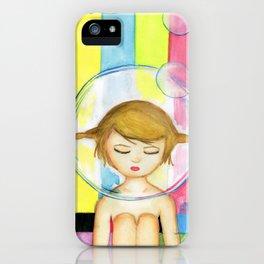Bubble Girl - Self Portrait iPhone Case