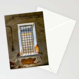 Behind Steel Bars Stationery Cards