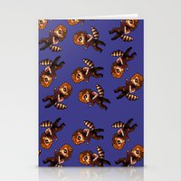 bucky Stationery Cards featuring RACCOON BUCKY by zombietonbo