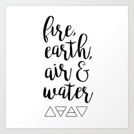 Elements Art Print
