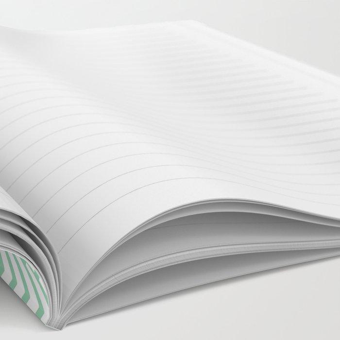 Herringbone Mint Notebook