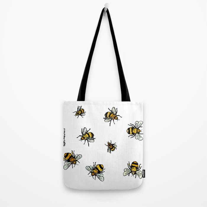 Just Some Beez A - White Tote Bag