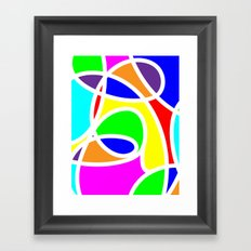 Loops Color Framed Art Print