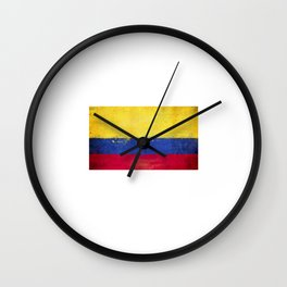 Colombia Flag design   Colombian design Wall Clock