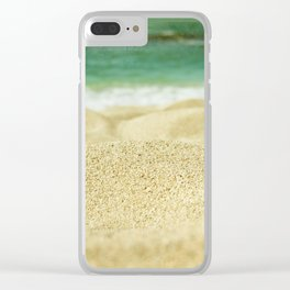 Sunset Beach Clear iPhone Case