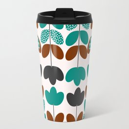 Flowers in blue and brown Travel Mug