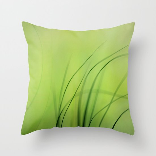 Sway  (Grass) Throw Pillow