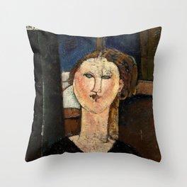 """Amedeo Modigliani """"Antonia"""" Throw Pillow"""