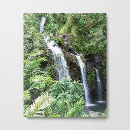 Three Hawaiian Waterfalls Metal Print