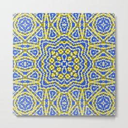 Yellow green kaleidoscope . Metal Print