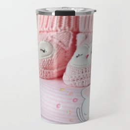 It's a Girl! / Baby Booties & Clothes Travel Mug