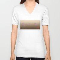 starfox V-neck T-shirts featuring Starfox Arwing by SnowVampire