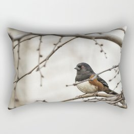 Spotted Towhee Rectangular Pillow