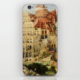 Tower Of Babel Pieter Bruegel The Elder iPhone Skin