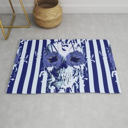 Limbo in navy color palette Rug