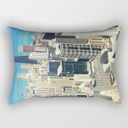 Chicago Buildings Color Photo Rectangular Pillow