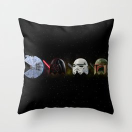 PacMan Wars Throw Pillow