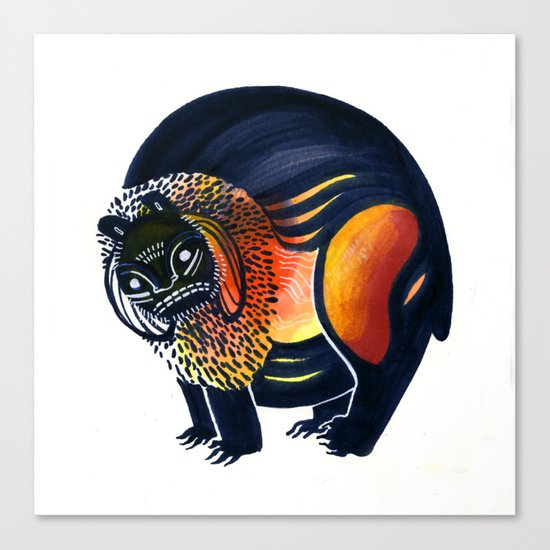 Angry Lion Canvas Print
