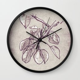 Pear tree Wall Clock
