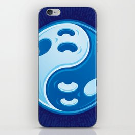 Ghost Yin Yang Symbol iPhone Skin