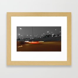Paris urban black and white with color Framed Art Print