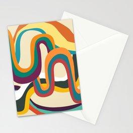 Groovy rainbow of doom Stationery Cards