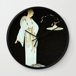 "Art Deco Illustration ""Moon Garden"" by Erté Wall Clock"