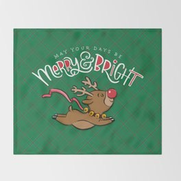 May Your Days be Merry & Bright Throw Blanket
