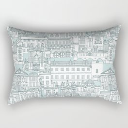 Bath toile pine mint Rectangular Pillow