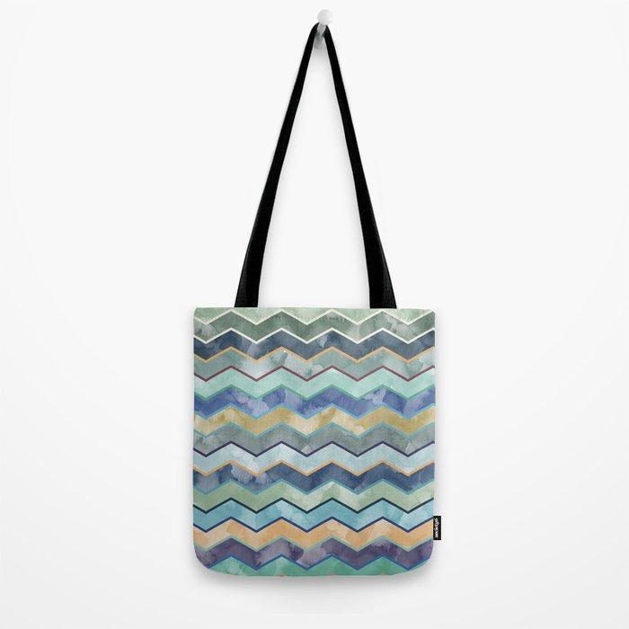 Watercolor Colorful Wave Tote Bag