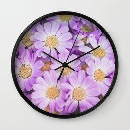 Purple daises Wall Clock