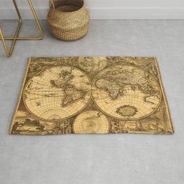 Antique World Map Rug