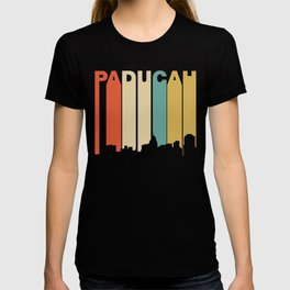 Retro 1970's Style Paducah Kentucky Skyline T-shirt