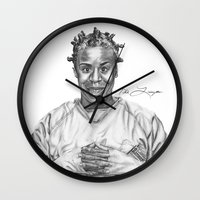 oitnb Wall Clocks featuring Crazy Eyes from OITNB by nilelivingston
