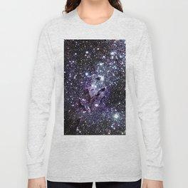 The Eagle Nebula : Pillars of Creation Deep Dark Blues & Purples Long Sleeve T-shirt