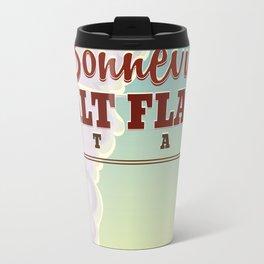 Bonneville Salt Flat Utah vintage travel poster Travel Mug