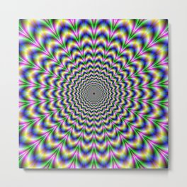 Crinkle Cut Psychedelic Pulse Alternative Color Metal Print